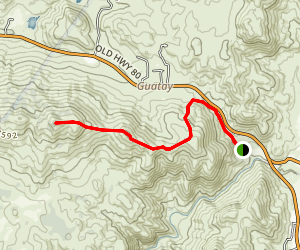Guatay Mountain Trail Map