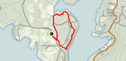 Sequoyah State Park: Blue Section Map