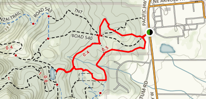 Calloway Creek to Cap House Loop Trail Map