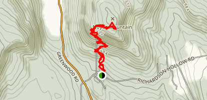 Noyes Mountain Trail Map
