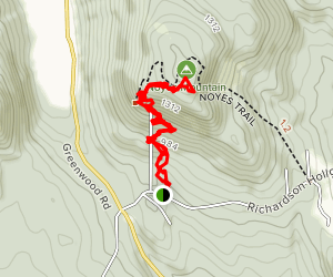 Noyes Mountain Trail [PRIVATE PROPERTY] Map