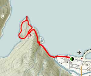 Sandy Cove Trail Map