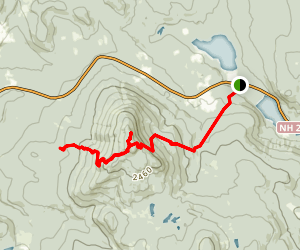 Smarts Mountain and Mount Cube via Appalachian Trail Map
