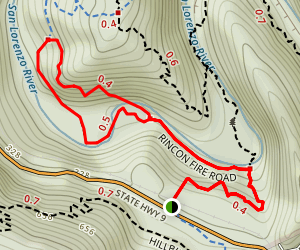 Diversion Dam Trail Map