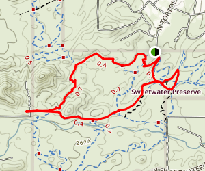The Spine Trail to Saguaro Vista  Map