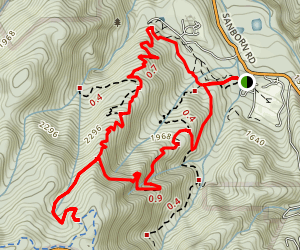 Sanborn Trails Map