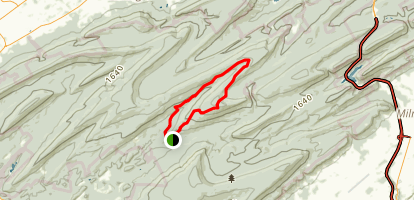 Reeds Gap Spur Trail Map