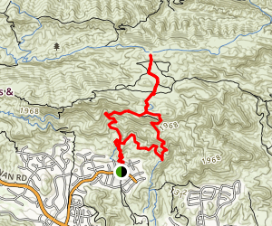 China Flat Trail Map