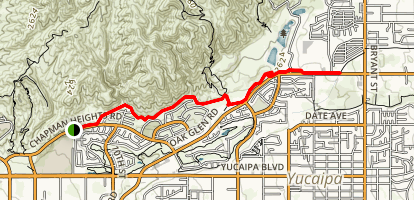 Chapman Heights Trail Map