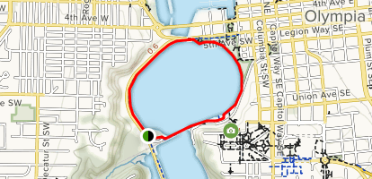 Capitol Lake Trail Map