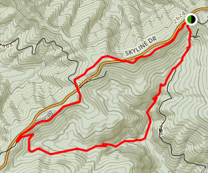 Doyles River Loop via Appalachian Trail Map