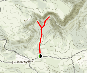Stinging Fork Falls Trail Map