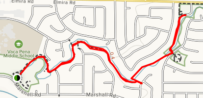Eleanor Nelson to Patwin Park Trail Map