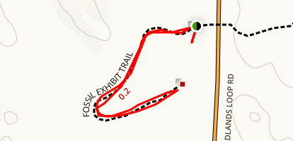 Fossil Exhibit Trail Map