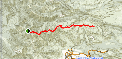 Guaje Ridge Trail Map