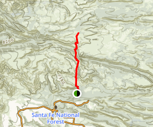 Pajarito Trail Map