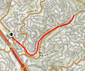 Shepherd Canyon Trail Map