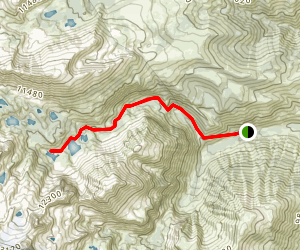 First Falls and Second Falls Trail to Third Lake Map