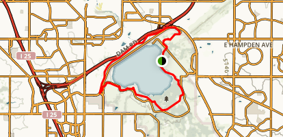 Cherry Creek Reservoir Loop Trail Map