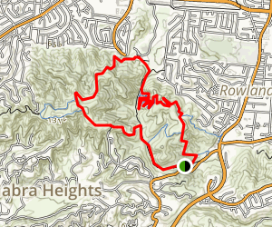 Powder Canyon Loop Trail Map