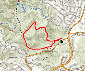Powder Canyon Black Walnut Loop Trail Map