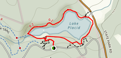 Lake Placid Loop Map
