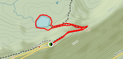 Sunrise Lake Trail Map