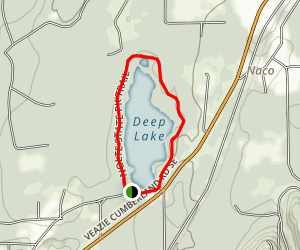 Nolte State Park Deep Lake Map