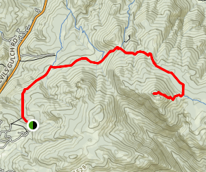 Crosier Mountain Trail via H Bar G Ranch Trail Map
