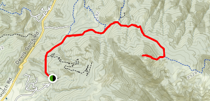 Crosier Mountain Trail via H Bar G Ranch Trail [PRIVATE PROPERTY] Map