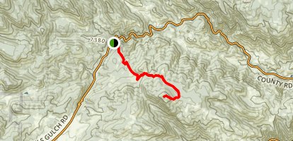 Crosier Mountain Trail via Devil's Gulch Rd. Map
