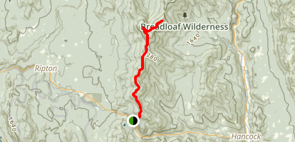 Bread Loaf and Battell Mountains via Long Trail Map