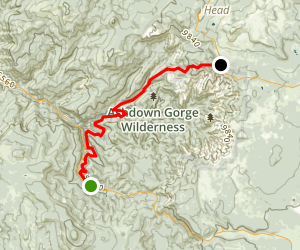 Rattlesnake Creek - Ashdown Gorge Trail Map