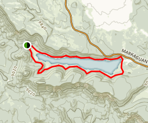 Navajo Lake Loop Map