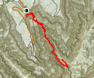 North Kaibab Trail to Roaring Springs Map