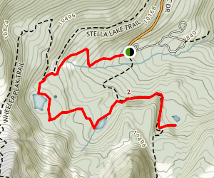 Alpine Lakes Trail Map