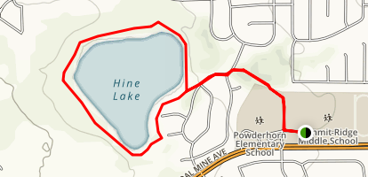 Hine Lake Loop Trail Map