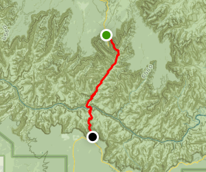 Rim-to-Rim: North Kaibab to South Kaibab Trailhead Map
