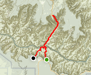 South Kaibab to North Kaibab to Bright Angel Trail Map