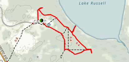 Disney Wilderness Preserve Loop and Interpretive Trails Map