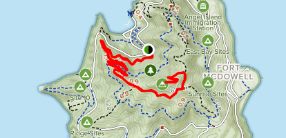Sunset Trail to Mount Livermore Map