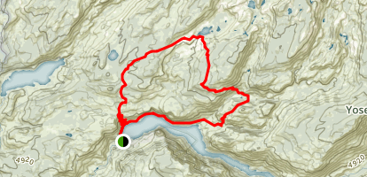 Lake Vernon and Tiltill Valley Trail Map