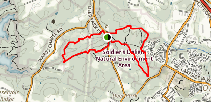 Dolfield Trail, Serpentine Trail Loop Map