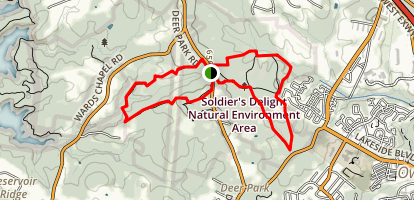 Soldiers Delight Natural Environmental Area Trails Map