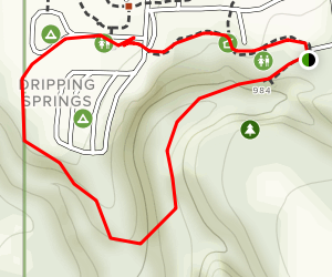 Dripping Springs Trail Map