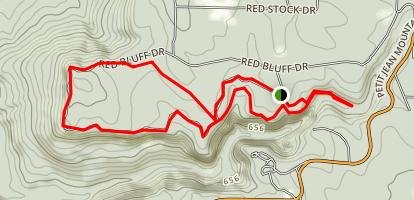 Rock House Cave and Lookout Trail Map