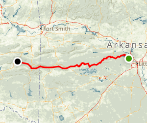 Ouachita National Recreation Trail Map