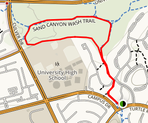 Turtle Rock and Sand Canyon Wash Loop Trail Map