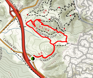 Clarkia, Sunset, Live Oak and Serpentine Loop Map