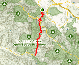 old la honda road map